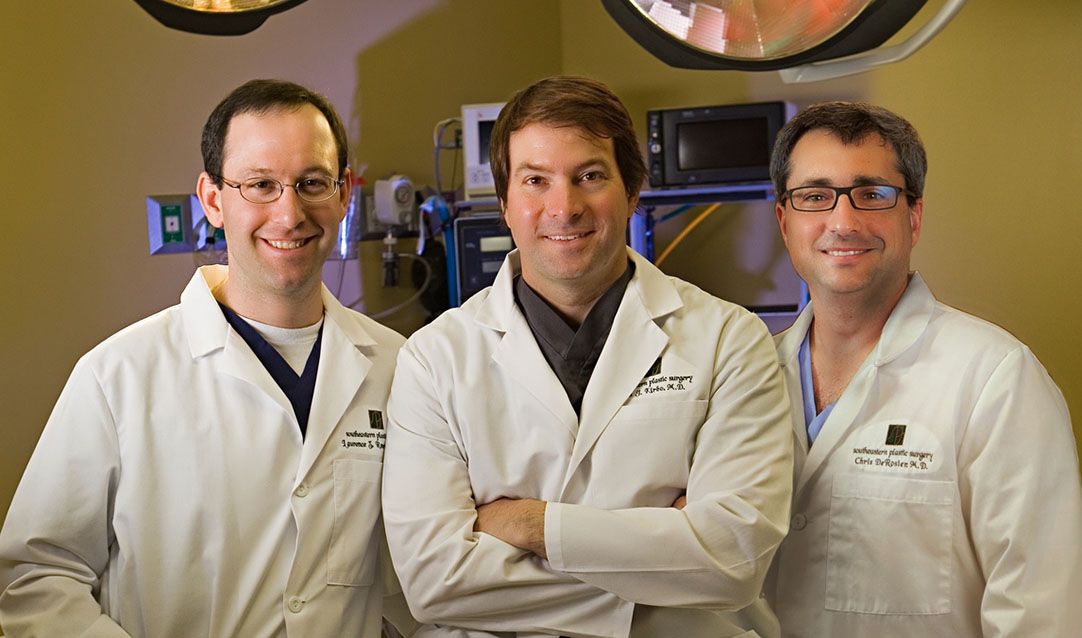 Our Doctors, Ben J. Kirbo, M.D., Laurence Z. Rosenberg, M.D. and Chris DeRosier, M.D.